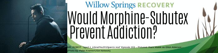 morphine and subutex